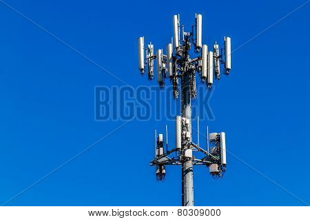 High-Tech Sophisticated Electronic Communications Cell Tower