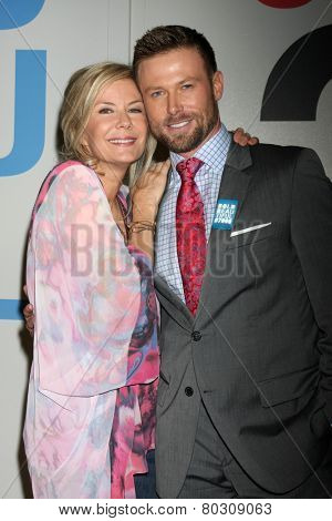LOS ANGELES - JAN 14:  Katherine Kelly Lang, Jacob Young as the  Bold and Beautiful Celebrates 7000th Show at a CBS Television City on January 14, 2015 in Los Angeles, CA