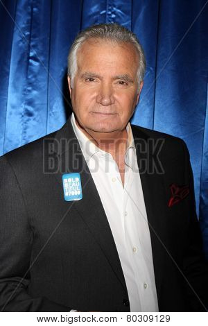 LOS ANGELES - JAN 14:  John McCook as the  Bold and Beautiful Celebrates 7000th Show at a CBS Television City on January 14, 2015 in Los Angeles, CA