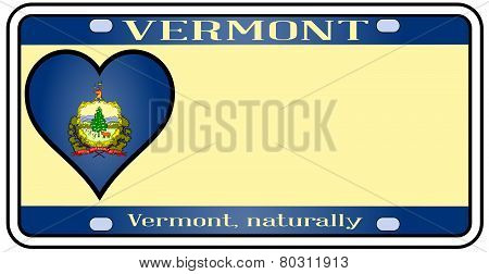 Vermont License Plate