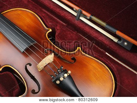 Violin In Case.