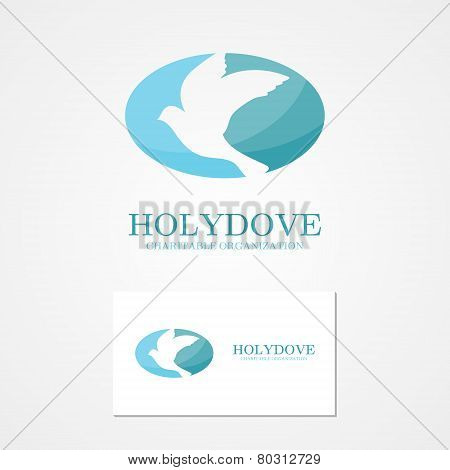 Vector  logo design  dove of peace