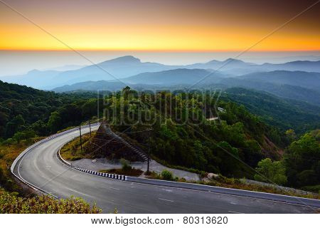 Doi Inthanon National Park At The Sunrise