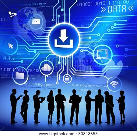 Vector of Business People Discussing about Network Issues