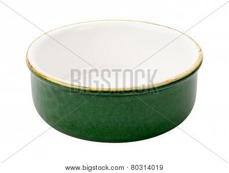 Empty Green Ceramic Bowl