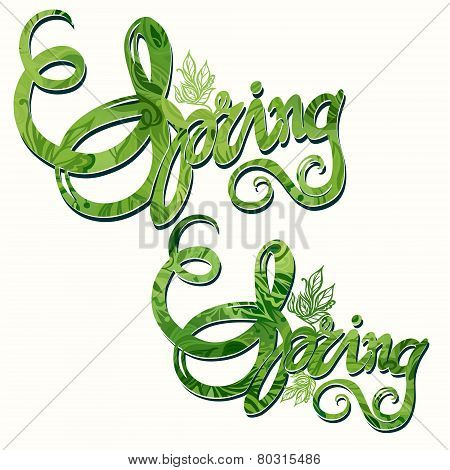 Hand drawn Spring Inscription Pattern
