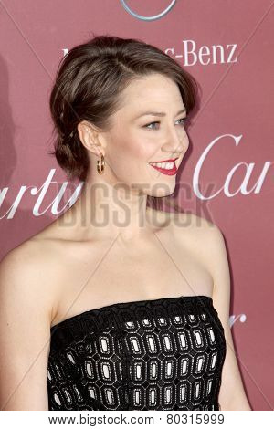 PALM SPRINGS, CA - JAN 3: Carrie Coon arrives at the 2015 Palm Springs Film Festival Awards Gala at the Palm Springs Convention Center on January 3, 2015 in Palm Springs, CA.