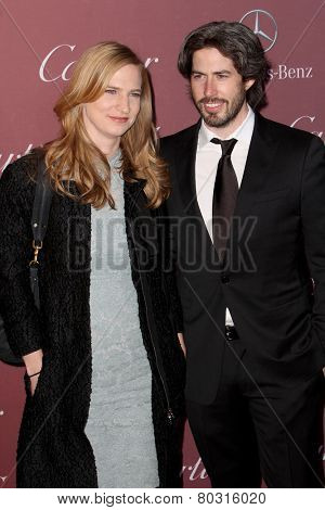 PALM SPRINGS, CA - JAN 3: Helen Estabrook & Jason Reitman arrive at the 2015 Palm Springs International Film Festival Gala at the Palm Springs Convention Center on January 3, 2015 in Palm Springs, CA.