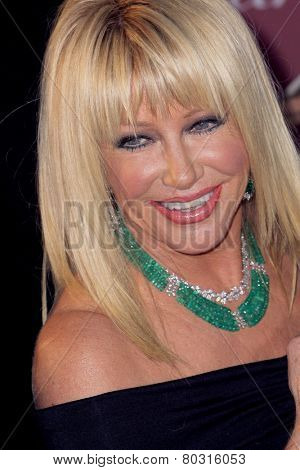 PALM SPRINGS, CA - JAN 3: Suzanne Somers arrives at the 2015 Palm Springs Film Festival Awards Gala at the Palm Springs Convention Center on January 3, 2015 in Palm Springs, CA.