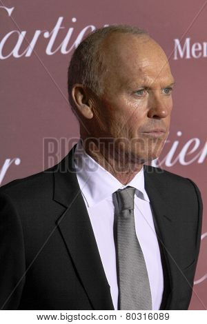 PALM SPRINGS, CA - JAN 3: Michael Keaton arrives at the 2015 Palm Springs International Film Festival Awards Gala at the Palm Springs Convention Center on January 3, 2015 in Palm Springs, CA.