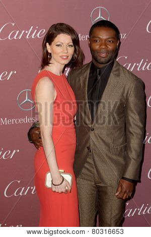 PALM SPRINGS, CA - JAN 3: Jessica & David Oyelowo arrives at the 2015 Palm Springs International Film Festival Awards Gala at the Palm Springs Convention Center on January 3, 2015 in Palm Springs, CA.