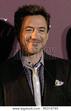 PALM SPRINGS, CA - JAN 3: Robert Downy Jr. arrives at the 2015 Palm Springs Film Festival Awards Gala at the Palm Springs Convention Center on January 3, 2015 in Palm Springs, CA.