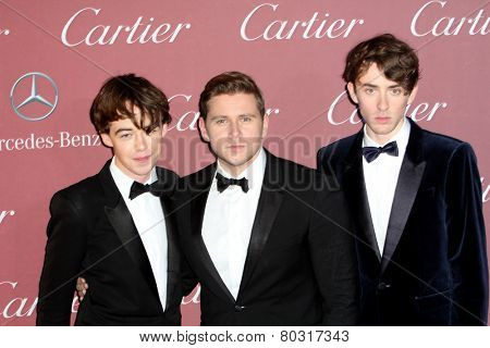 PALM SPRINGS, CA - JAN 3: Matthew Beard, Alex Lawther and Allen Leech arrive at the 2015 Palm Springs Film Festival Gala at the Palm Springs Convention Center on January 3, 2015 in Palm Springs, CA.