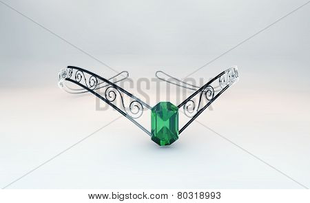 Diadem With Emerald