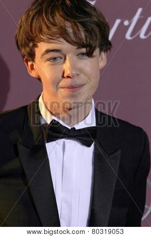 PALM SPRINGS, CA - JAN 3: Alex Lawther arrives at the 2015 Palm Springs International Film Festival Awards Gala at the Palm Springs Convention Center on January 3, 2015 in Palm Springs, CA.