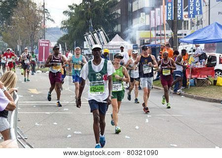 Participants Competing In 2014 Comrades Marathon Road Race
