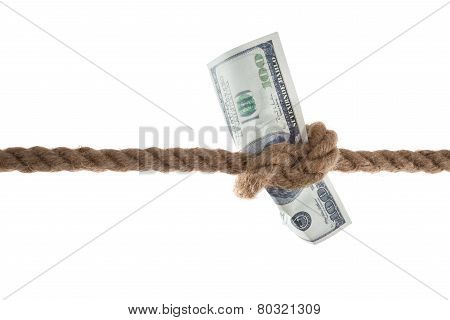 Banknote Tied In A Rope
