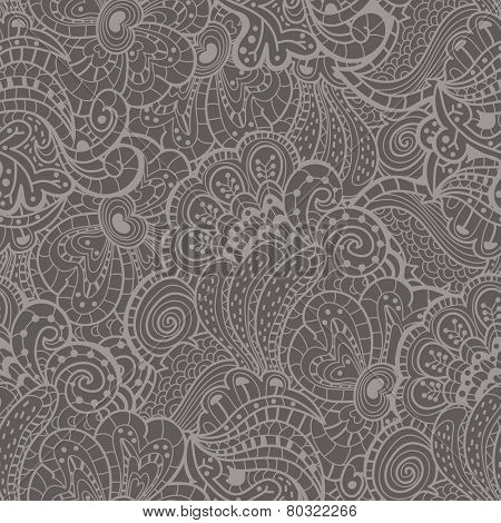 Seamless texture with abstract flowers. Vector illustration