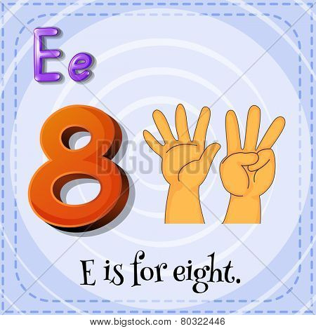 A letter E for eight