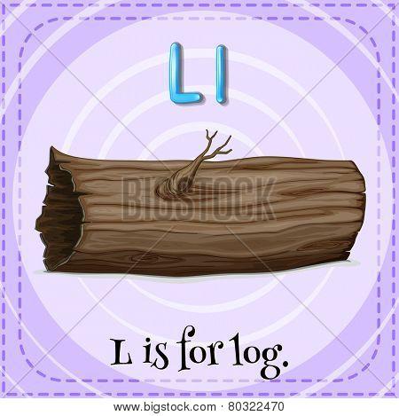A letter L for log