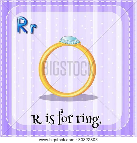 A letter R which stands for ring