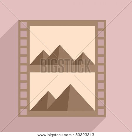 minimalistic illustration of a photography filmstrip with content, eps10 vector