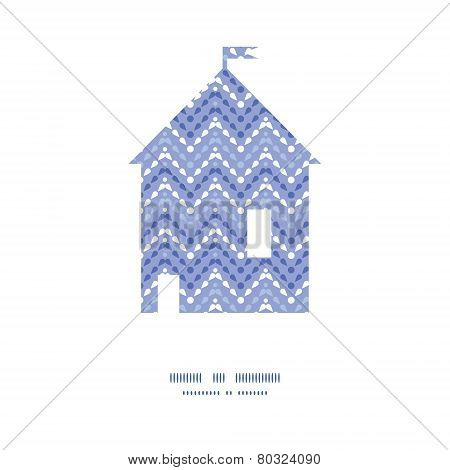 Vector purple drops chevron house silhouette pattern frame
