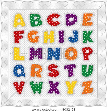 Alphabet Quilt, Primary Colors