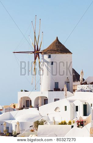 Windmill In Oia, Santorini.