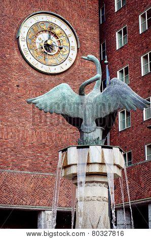 clock of Oslo City Hall , Norway