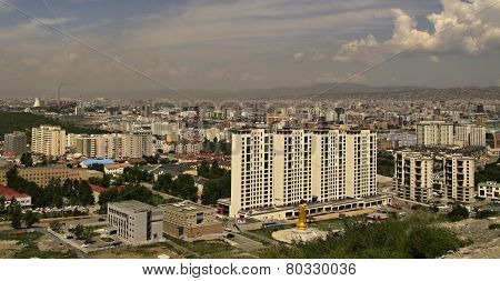 New construction of buildings in Ulaanbaatar,Mongolia