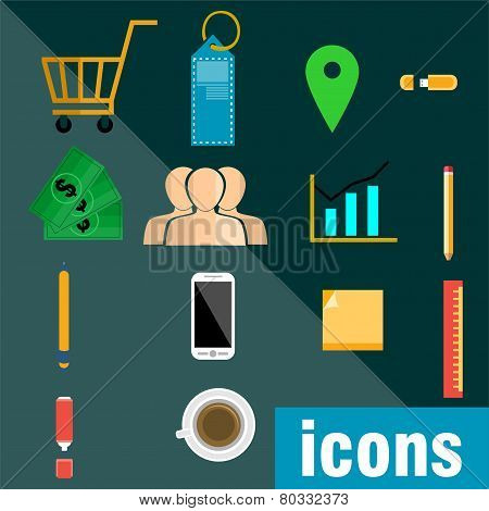 vector business concept icons - Illustration