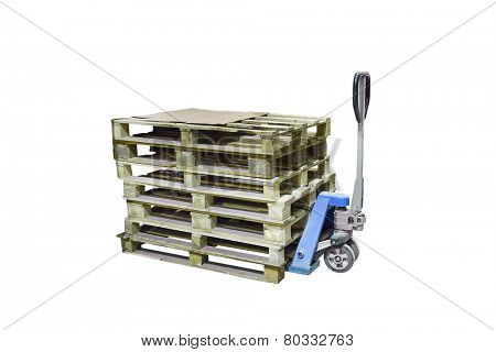 The image of manual loader under the white background