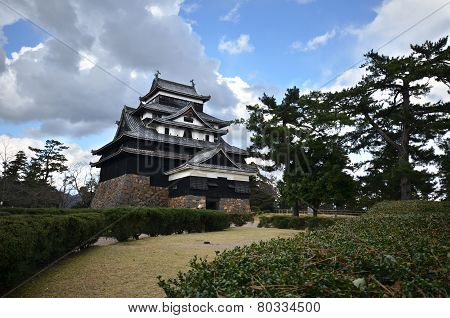 A Vew Of Matsue Samurai Feudal Castle In Shimane Prefecture