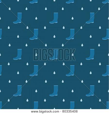 rain boots seamless pattern