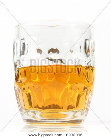 Half mug of beer