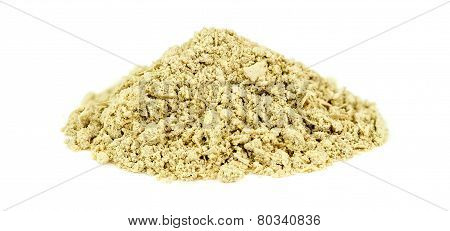 Pile Of Kava Kava Root Isolated On White