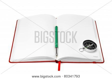 Notebook And Compass