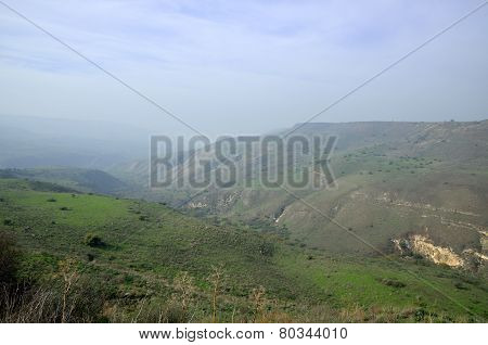 Golan Heights Landscape, Israel.