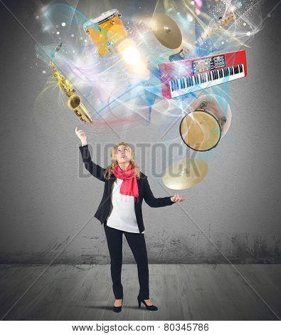 Music juggler