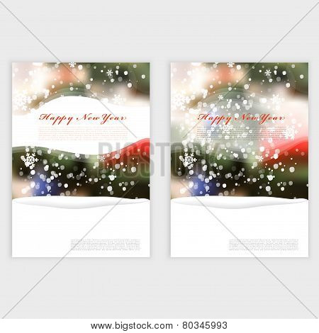 Vector Winter Christmas Blurred Glow Snowflakes.