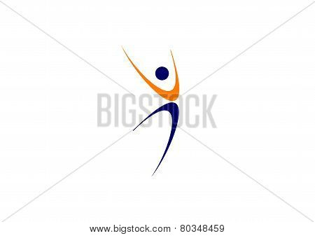 Wellness people logo,fitness dancer sport,nature yoga,runner