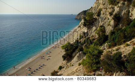 Egremni beach in Levkas, Ionion sea, Greece