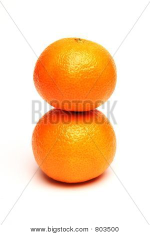 Stacked oranges