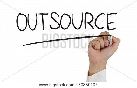 Outsource Concept