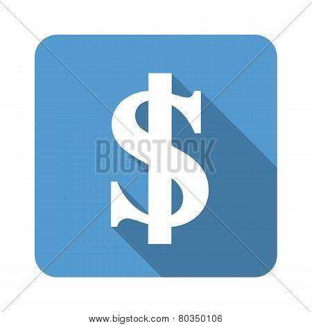 Us Dollar Sign Flat Icon Vector Illustration