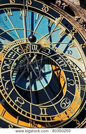 The Prague Astronomical Clock or Prague Orloj .The Orloj is mounted on the southern wall of Old Town City Hall in the Old Town Square and is a popular tourist attraction.