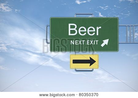 Drunk Driving Beer Road Sign