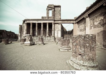 Ruins Of The Basilica, Pompeii