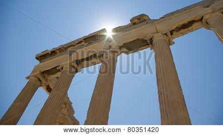 Erechtheion temple in Athens, Acropole, Greece.
